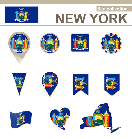 albany: New York Flag Collection, USA State, 12 versions