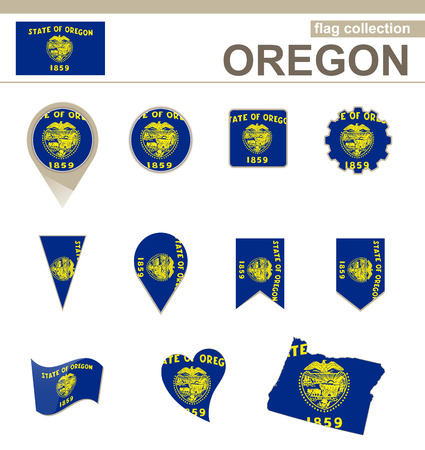 versions: Oregon Flag Collection, USA State, 12 versions
