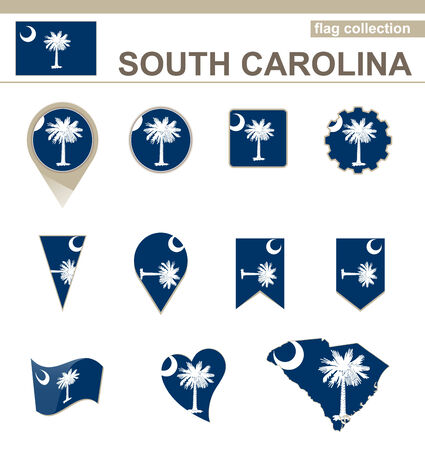 South Carolina Flag Collection, USA State, 12 versions