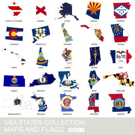 district of columbia: USA state collection, maps and flags, part 1