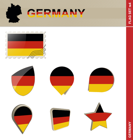 parliamentary: Germany Flag Set, Flag Set #4. Vector.