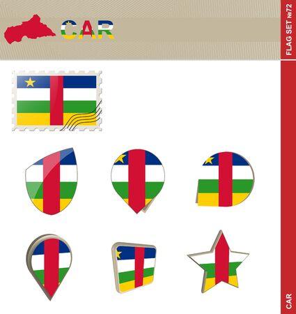 car flag: CAR Flag Set, Flag Set #72. Vector.
