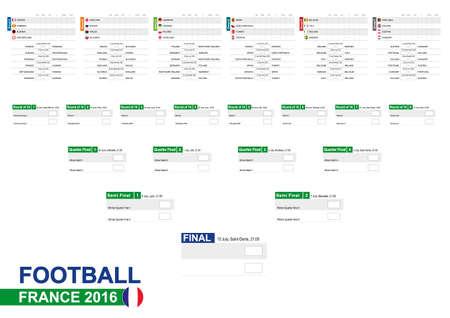 bandera francia: F�tbol 2016, Euro 2016 Calendario de partidos, todos los partidos, tiempo y lugar. F�tbol 2016. Las banderas de pa�s. Tama�o A2.