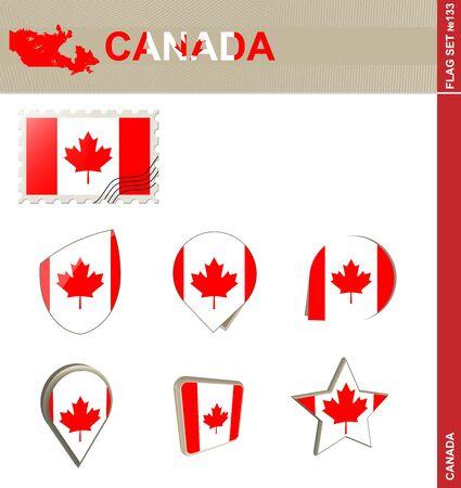 british columbia: Canada Flag Set