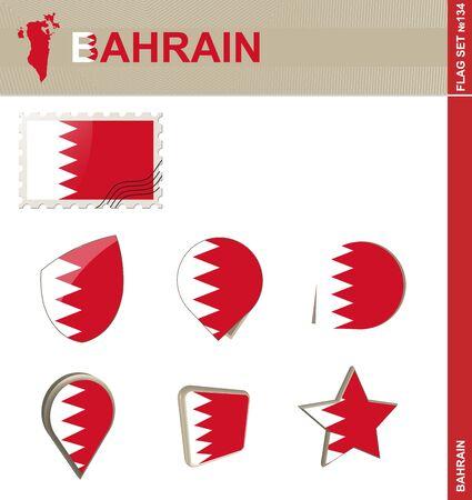 bahrain: Bahrain Flag Set