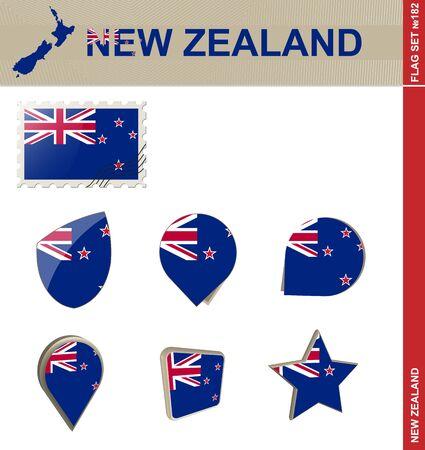 bandera de nueva zelanda: Conjunto de la bandera de Nueva Zelanda