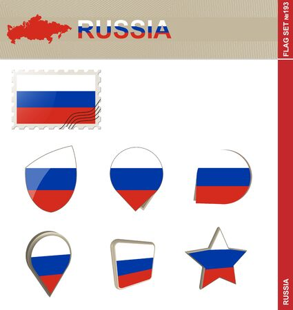russia flag: Russia Flag Set