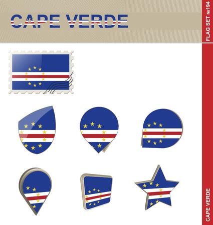 verde: Cape Verde Flag Set