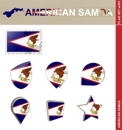 samoa: American Samoa Flag Set