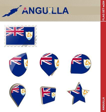 anguilla: Anguilla Flag Set