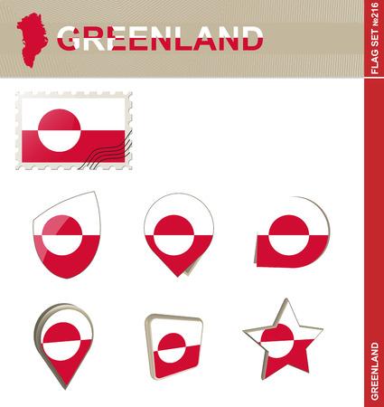 euro area: Greenland Flag Set