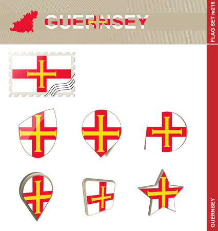 bailiwick: Guernsey Flag Set