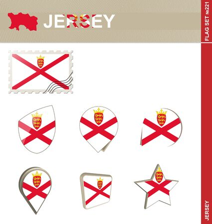 bailiwick: Jersey Flag Set