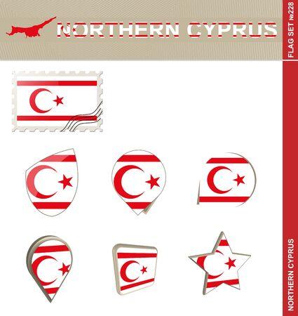 northern: Northern Cyprus Flag Set