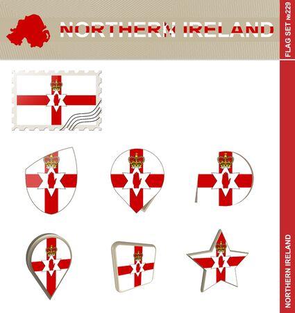 ireland flag: Northern Ireland Flag Set