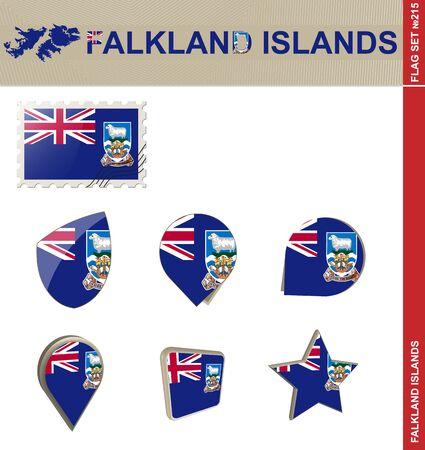 falkland: Falkland Islands Flag Set