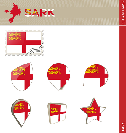 normandy: Sark Flag Set