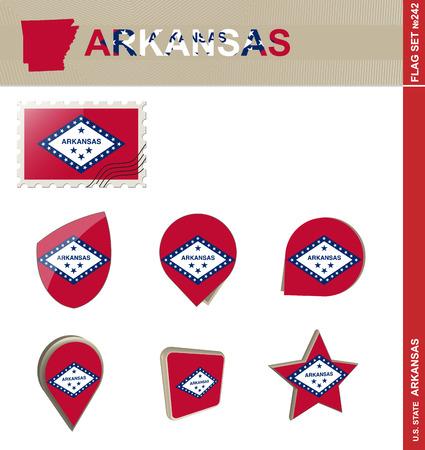 arkansas: Arkansas Flag Set, US state