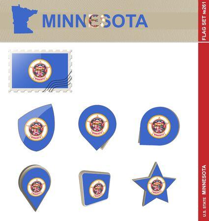 minnesota: Minnesota Flag Set, US state