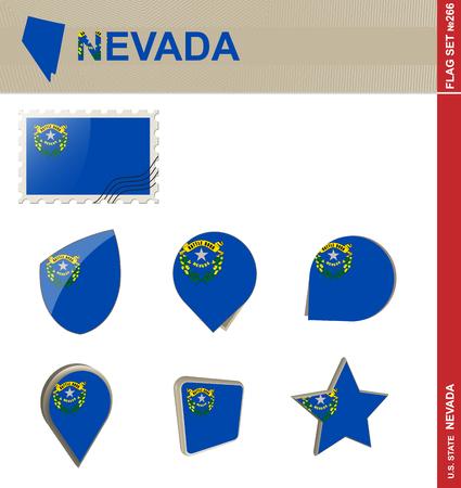 carson city: Nevada Flag Set, US state