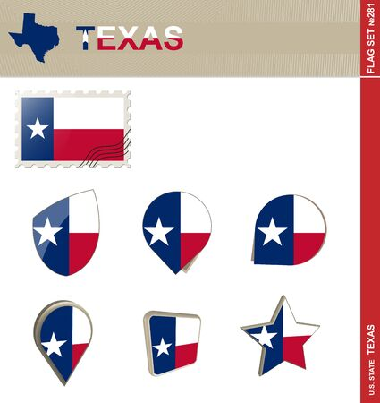 texas state flag: Texas Flag Set, US state