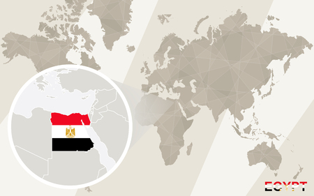 Zoom on egypt map and flag world map royalty free cliparts vector zoom on egypt map and flag world map gumiabroncs Images