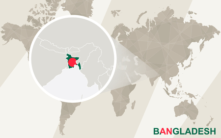 Zoom on bangladesh map and flag world map royalty free cliparts vector zoom on bangladesh map and flag world map gumiabroncs Gallery