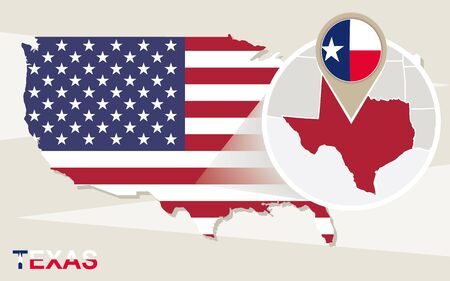 Texas State On USA Map Texas Flag And Map US States Royalty - Usa map texas state