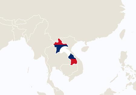 Laos Vector Map Cliparts Stock Vector And Royalty Free Laos - Laos map vector