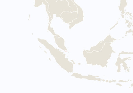 Asia With Highlighted Vietnam Map Vector Illustration Royalty