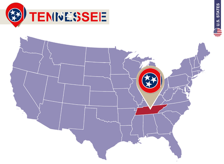 District Of Columbia On USA Map District Of Columbia Flag And - Us map tennessee