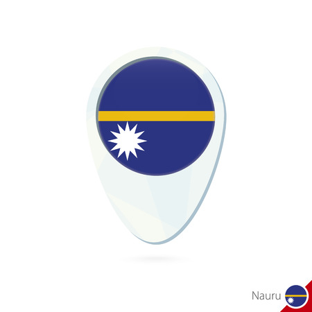 Micronesia Nauru New Zealand Palau Flag Location Map Pin Icon