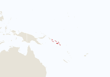 oceania: Oceania with highlighted Solomon Islands map. Vector Illustration.