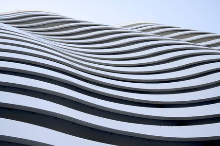 abstract building: White wave building, Batumi, Georgia. Abstract building.