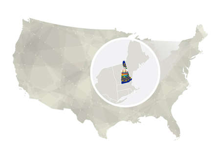 New Hampshire Stock Illustrations Cliparts And Royalty Free - New hampsire on us map