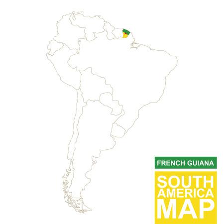 Südamerika Karte Ohne Beschriftung.Südamerika Karte Vektorkarte Von Südamerika Mit Fahnen Vektor
