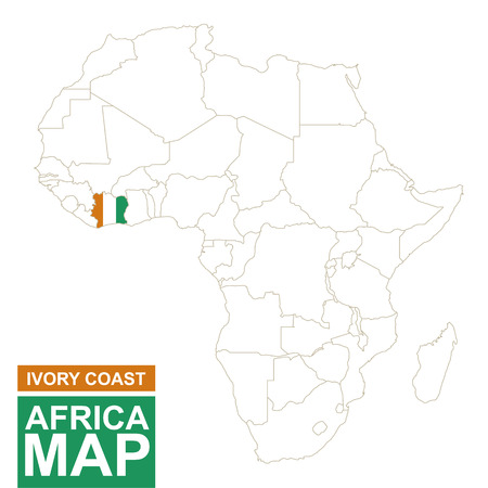 Ivory Coast Map Vector Stock Illustrations Cliparts And - Ivory coast map of africa