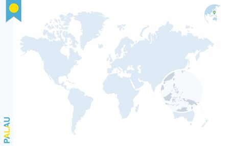World Map With Magnifying On Barbados Blue Earth Globe With - Barbados earth map