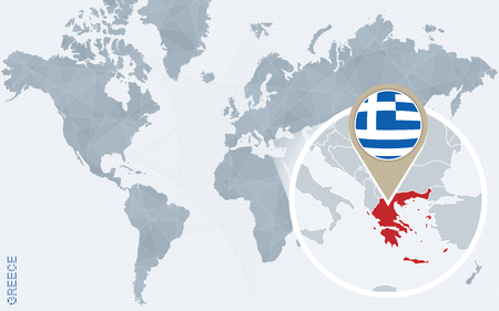 Abstract blue world map with magnified greece greece flag and abstract blue world map with magnified greece greece flag and royalty free cliparts vectors and stock illustration image 60202689 gumiabroncs Gallery