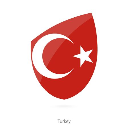 pennon: Flag of Turkey. Turkish Rugby flag. Vector Illustration. Illustration