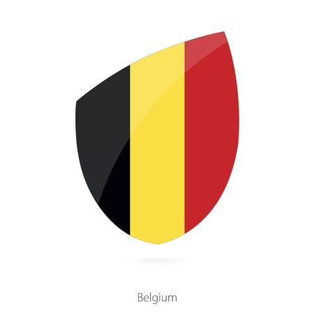 Flag of Belgium. Belgium Rugby flag. Vector Illustration. Illustration
