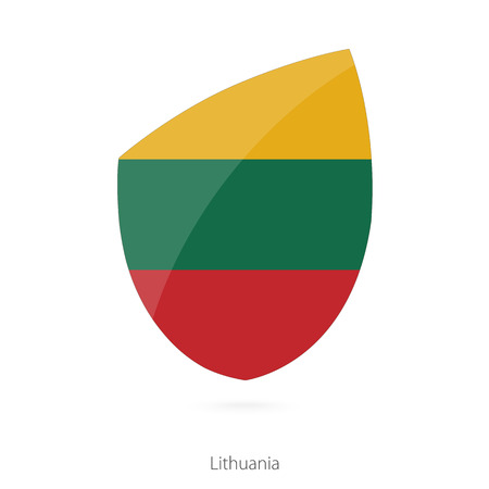 pennon: Flag of Lithuania. Lithuanian Rugby flag. Vector Illustration.
