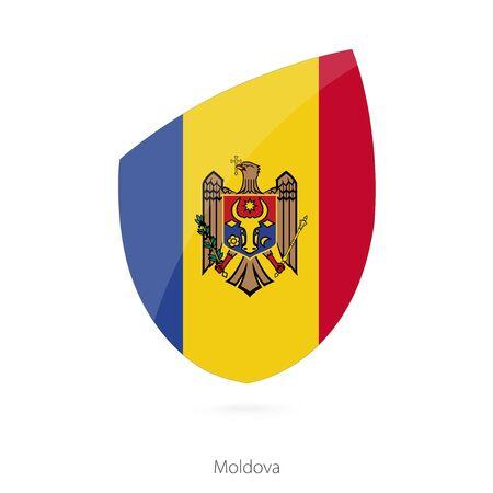 moldovan: Flag of Moldova. Moldovian Rugby flag. Vector Illustration.