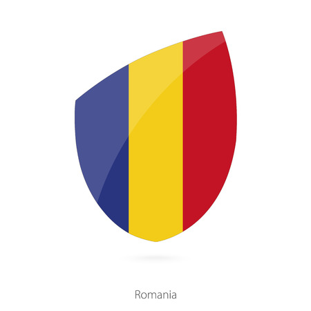 romanian: Flag of Romania. Romanian Rugby flag. Vector Illustration.