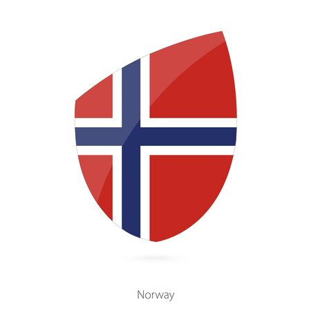 pennon: Flag of Norway. Norway Rugby flag. Vector Illustration. Illustration