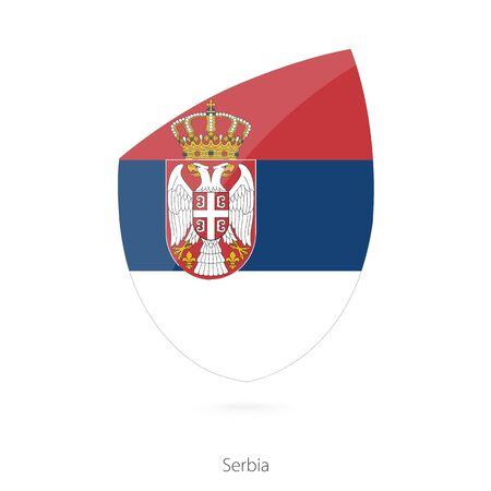 pennon: Flag of Serbia. Serbian Rugby flag. Vector Illustration.