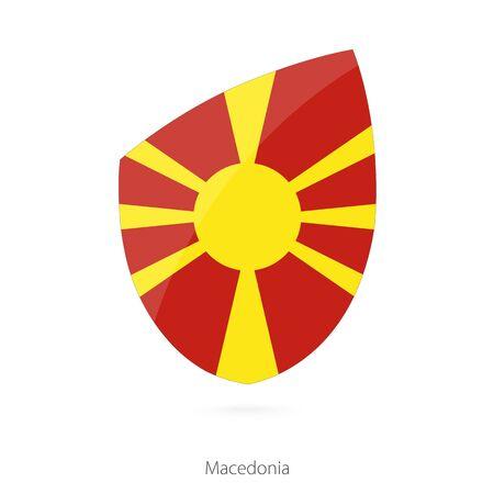 macedonian flag: Flag of Macedonia. Macedonian Rugby flag. Vector Illustration.