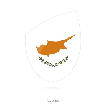 Flag of Cyprus in the style of Rugby icon. Vector Illustration. Illustration