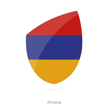 pennon: Flag of Armenia. Armenian Rugby flag. Vector Illustration.