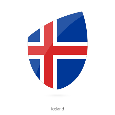 pennon: Flag of Iceland. Vector Illustration. Illustration